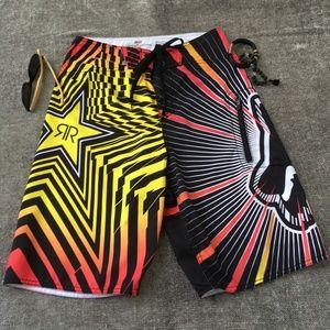 FOX RACING x ROCKSTAR ENERGY Swim Trunks Shorts!